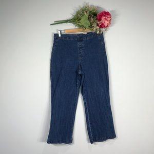 Soft Surroundings | Pull On Straight Leg Jeans